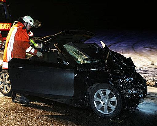 Frau nach Unfall in Lebensgefahr
