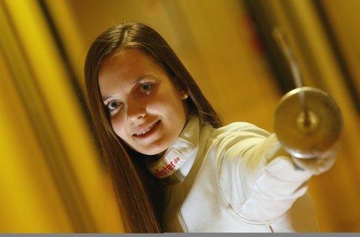 Ehrgeizig und erfolgreich: Die Florettfechterin Zsofia Posgay Foto: Baumann