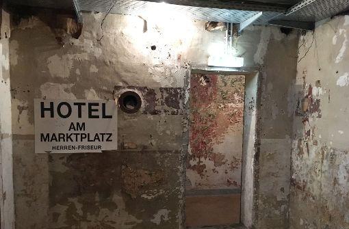 Der wohl bekannteste Stuttgarter Bunker ist das ehemalige Bunkerhotel am Marktplatz. Er öffnet ... Foto: Jan Georg Plavec