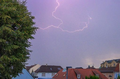 Gewitter sorgten am Donnerstag auch im Raum Stuttgart für Abkühlung. Foto: 7aktuell.de/Fabian Geier