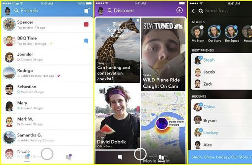 So sieht das neue Snapchat aus