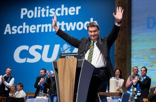 """Der künftige bayerische Regierungschef Markus Söder will zwar keinen """"Rechtsruck"""", kündigt aber einen schärferen Kurs in der Asylpolitik an. Foto: dpa"""