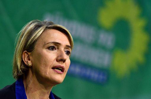 Archivbild: Simone Peter, Bundesvorsitzende von Bündnis 90/Die Grünen, beim Landesparteitag in Rheinland-Pfalz. Foto: dpa