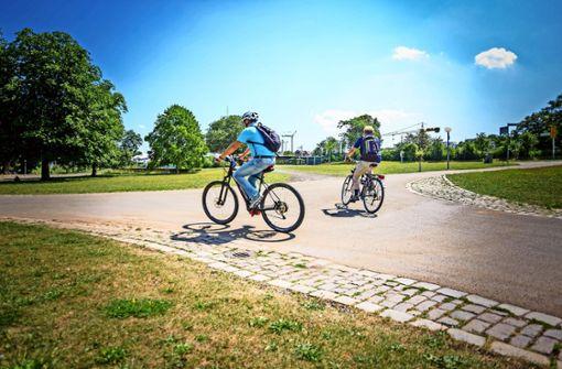 Mit dem Fahrrad einmal quer durch die Stadt
