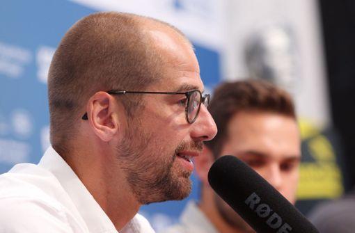 TVB-Trainer Jürgen Schweikardt freut sich auf Adam Lönn. Foto: Baumann