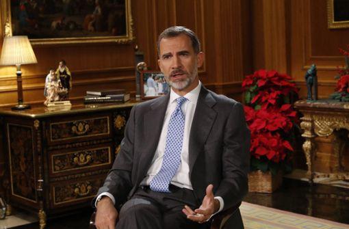 König mahnt Katalanen und zieht sich Kritik zu