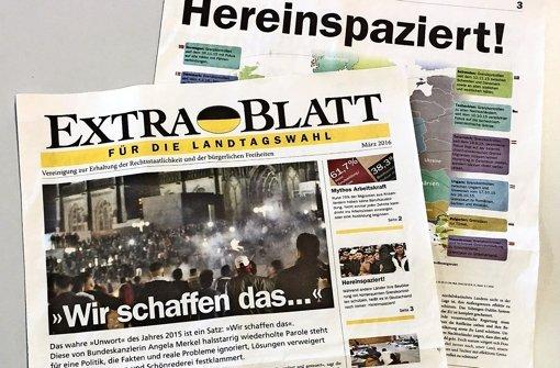 """Ein """"Extrablatt"""" soll die AfD unterstützen. Foto: Siefert"""