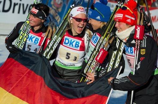 Gold für deutsche Biathletinnen