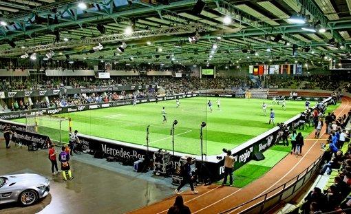 Der Glaspalast, fast 50 Jahre alt, gehört noch immer zu den bedeutenden Sport- und Veranstaltungshallen in der Region. Foto: Baumann