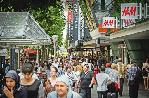 """Experte attestiert Stuttgart """"starken Einzelhandel"""""""