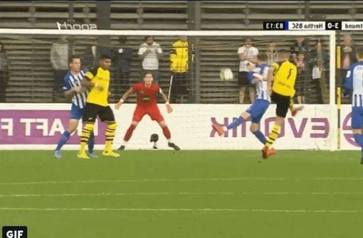 VfB-Neuzugang David Kopacz verzückt mit Traumtor
