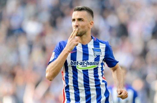 Vedad Ibisevic, eigentlich beim VfB Stuttgart unter Vertrag, bleibt bis 2017 in Berlin. Foto: dpa