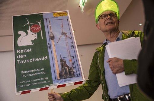 Die lautstark auftretenden Gegner der Windräder im Tauschwald haben ich durchgesetzt Foto: Lichtgut/Leif Piechowski