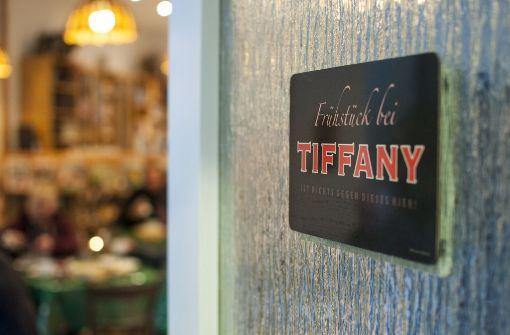 """""""Frühstück bei Tiffany ist nichts gegen dieses hier"""" steht an der Tür.  Foto:  Beate Pundt"""