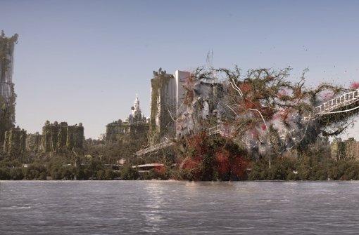 """Eine wild wuchernde Pflanze schnürt New York ein: Szene aus dem Diplomfilm """"Wrapped"""". Foto:"""
