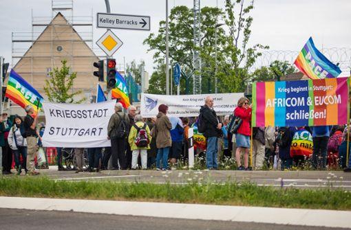 Demonstranten fordern Schließung von Africom-Zentrale