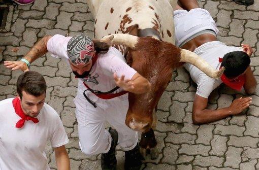Bei Hatz von einem Bullen aufgespießt