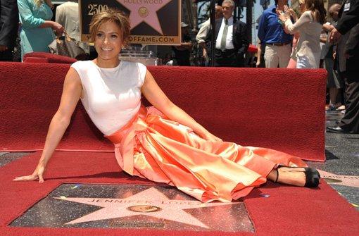 Walk of Fame Jennifer Lopez bekommt einen Stern in