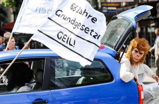 Ein Autokorso soll das Grundgesetz am Dienstag hochleben lassen. Foto: privat