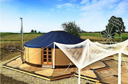 Die meiste Zeit sollen die Kinder draußen verbringen, doch bei Bedarf können sie sich in beheizte, stabile Zelte zurückziehen. Foto: z