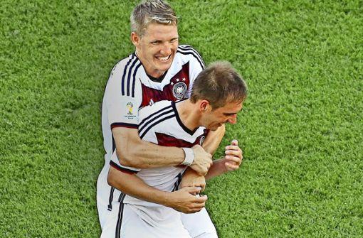 Starke Typen: Philipp Lahm (r.) und Bastian Schweinsteiger Foto: Getty