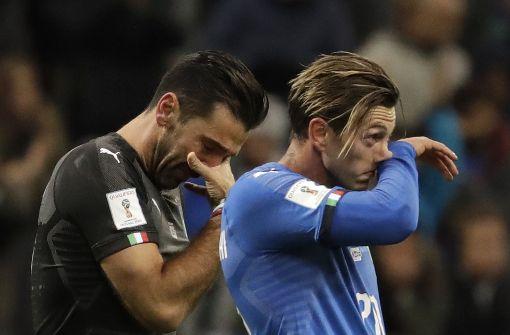 Der italienische Fußballliegt in Trümmern
