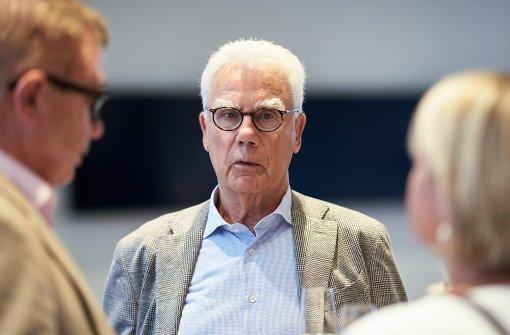 Interessierter Gast: Galerist und Verleger Michael Domberger Foto: Steffen Schmid