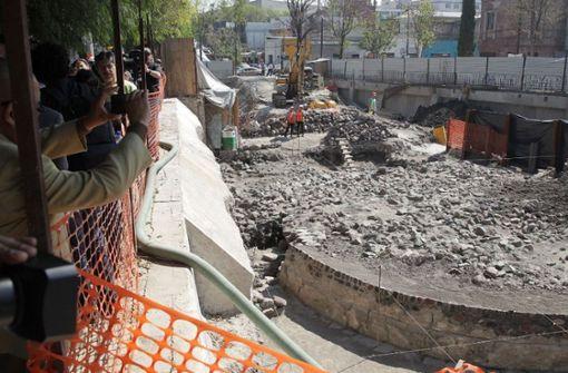 Die Archäologen entdeckten den Opferaltar der Azteken 2016 im Stadtteil Tlatelolco. Foto: dpa
