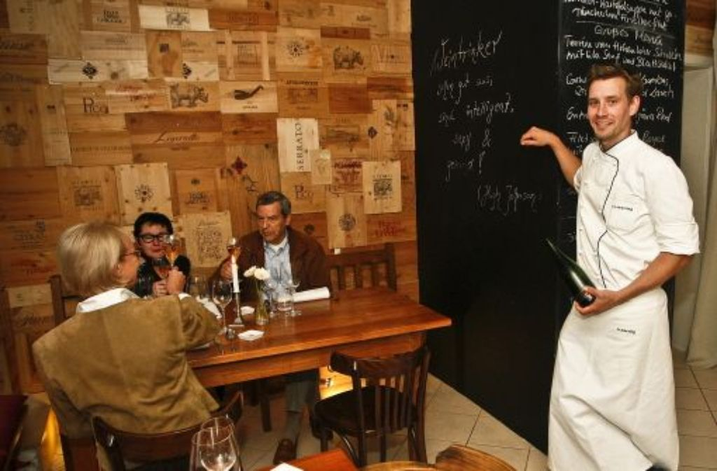 Seit Mai Chef der Bo'teca di Vino in Botnang: Sebastian Werning Foto: Petsch