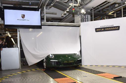 Hier rollte der millionste Porsche 911 vom Band ... Foto: 7aktuell/Eyb