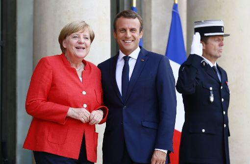 Emmanuel Macron empfängt Bundeskanzlerin in Paris