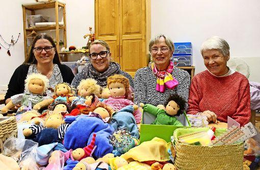 Die Puppenmamis nähen das ganze Jahr