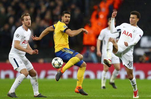 Sami Khedira (Mitte) hat mit Juventus Turin das Viertelfinale der Champions League erreicht. Foto: Getty Images Europe