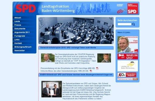 Auf der Internetseite der SPD bittet Landeschef Nils Schmid um Spenden. Foto: screenshot