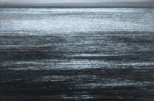 """Werke von Jochn Hein in der Galerie Thomas Fuchs:  """"Meeresoberfläche"""", 2017 . . .  Foto: Jochen Hein"""