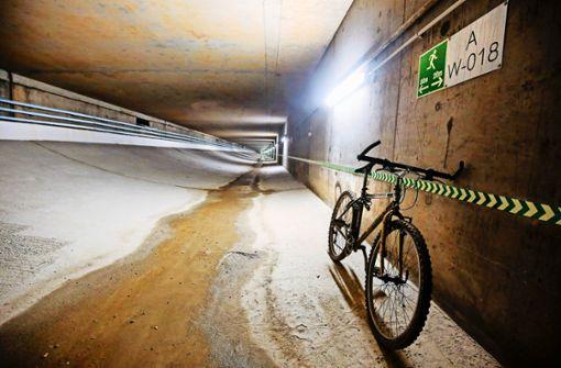 Im Tunnel unter dem Engelbergtunnel