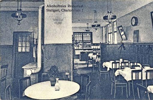 Die Karte vom alkoholfreien Restaurant in Stuttgart ist 1920 gelaufen. Foto: Sammlung Wolfgang Müller