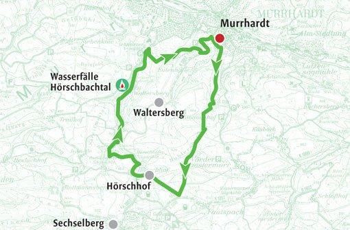 Zur Wasserfalle in der Hörschbachschlucht