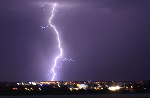 Faszinierende Fotos vom Gewitter über Stuttgart