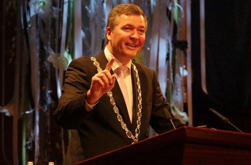 Oberbürgermeister Christoph Palm beim Neujahrsempfang der Stadt. Foto: Patricia Sigerist