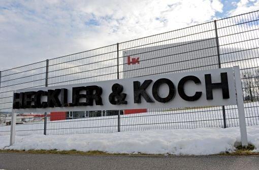 Die Firmenzentrale von Heckler & Koch in Oberndorf Foto: dpa