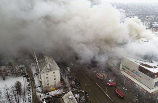 64 Menschen sterben in brennendem Einkaufszentrum