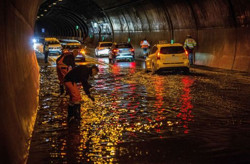 Unwetter sorgen für Überflutungen