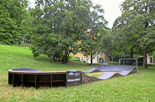 Der neue Mountainbike-Parcours ist  bis 25. Juli  für Kinder und Jugendliche am Palmschen Schloss verfügbar. Foto: Frey
