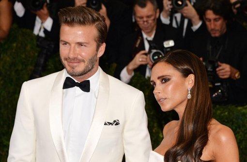 David Beckham mit seiner Frau Victoria Foto: dpa