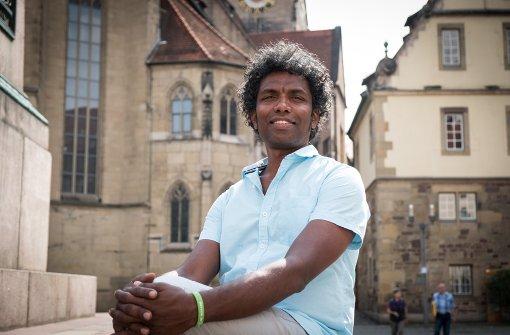 Ayurveda-Arzt Dr. Prasanth Raghavan liebt die historischen Orte in Stuttgart Foto: Lichtgut/Achim Zweygarth