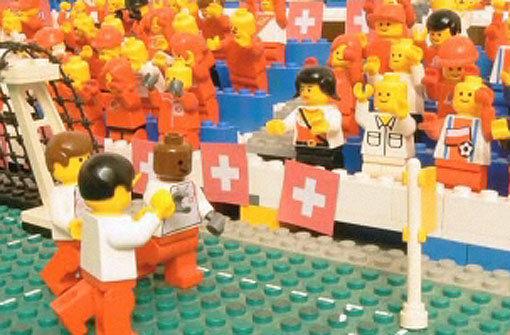 Lego-Männchen schießen WM-Tore