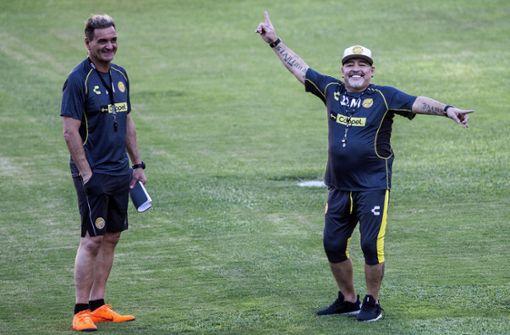 """""""Mit dem, was ich den Spielern seelisch einimpfen kann, wird es schwierig sein, uns zu besiegen"""", sagte Argentiniens Fußball-Legende. Foto: AFP"""