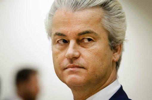Wilders will Grenzen schließen und Moscheen verbieten