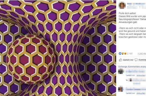 Diese optische Täuschung beschäftigt zurzeit die Netzgemeinde. Foto: Facebook/Pete S. Wolfsson